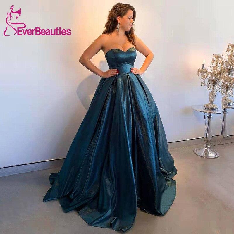 Ball Gown Sweetheart Prom Dresses 2020 Satin Prom Gown Vestido Formatura Evening Party Dress Robe De Soiree Vestidos De Gala