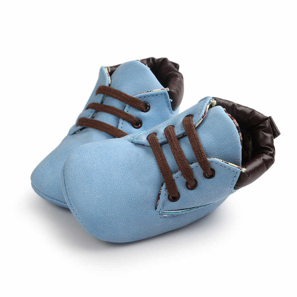 Spring / Autumn Infant Baby Boy Soft Sole PU Leather Prewalker First Walkers Crib Shoes 0-18 Months Keeping Warm Shoes 2020#VK
