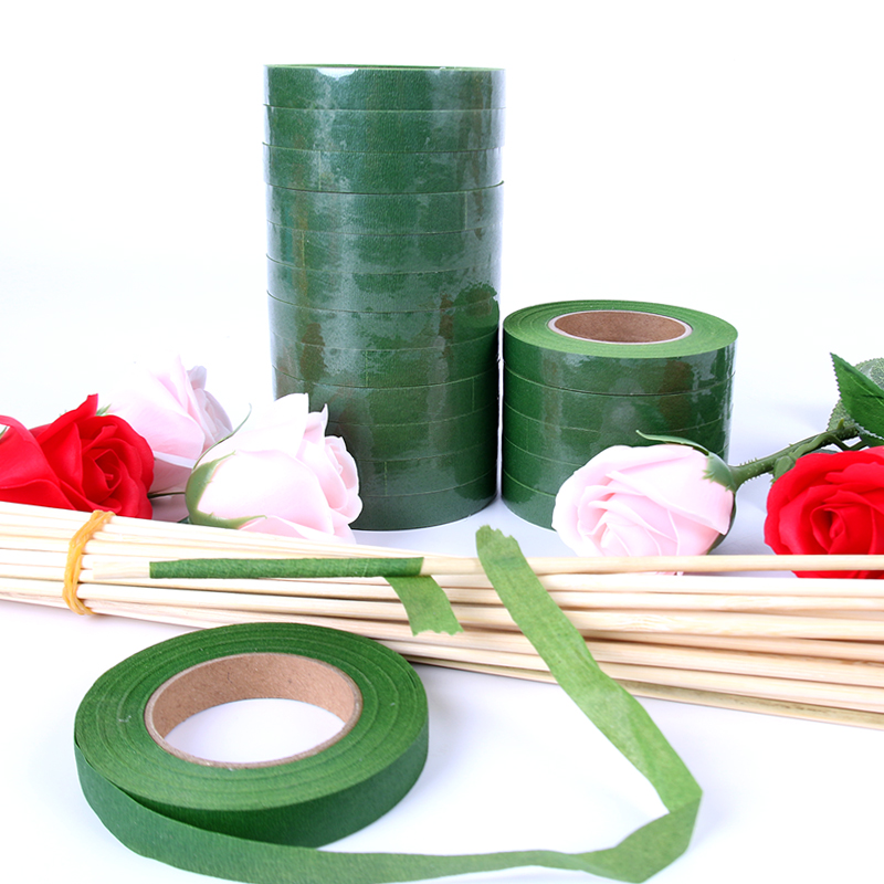 12mm Floral Stem Tape Corsages Buttonhole Artificial Flower Stamen Wrap Florist Green Tapes Nylon Flower Craft Supplies 30Yards