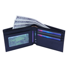 Wallet Men Bifold card holder Business Coin Purse Leather ID
