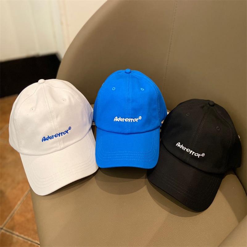 New ADER ERROR Baseball Cap Men Women High Quality Embroidery Adererror Hats Soft Top Adjustable ADER Caps Hollow Ventilation