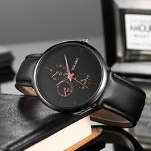 цены Minimalist Style Watch Men Leather Casual Quartz Wristwatches Brand Luxury Creative Waterproof Male Clock relogio masculino 2019