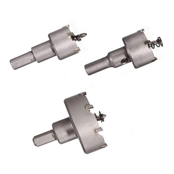 цена на 3pcs Drill Bit Hole Saw Set Carbide Tip Metalworking Cutter Tool Wood Drilling Tools for Woodworking Stone Hole Punch 26/30/53mm