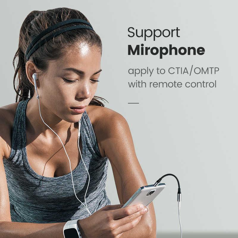 Ugreen Тип C 3,5 разъем для наушников USB C до 3,5 мм AUX Наушники Адаптер для huawei mate 20 P30 pro Xiaomi Mi 6 8 9 SE аудио кабель