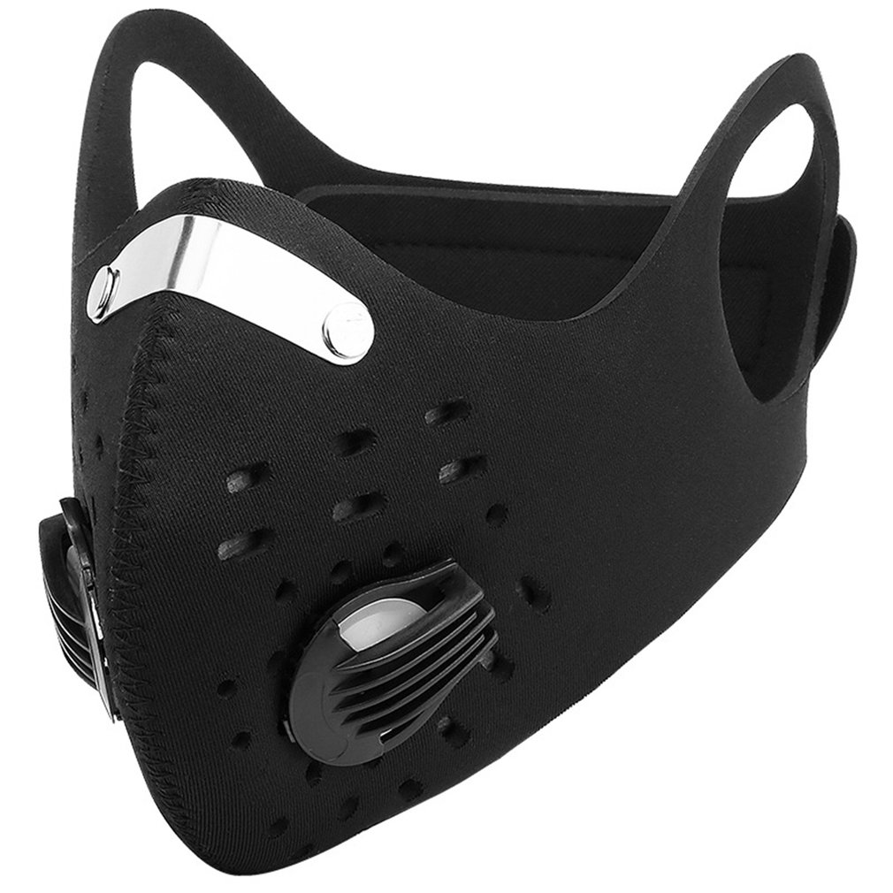 Mask Motorcycle Mask Dust Face Masks Respirator PM2.5 Replaceable Filters Anti-Pollution Cycling Outdoor Sport Mask Reusable