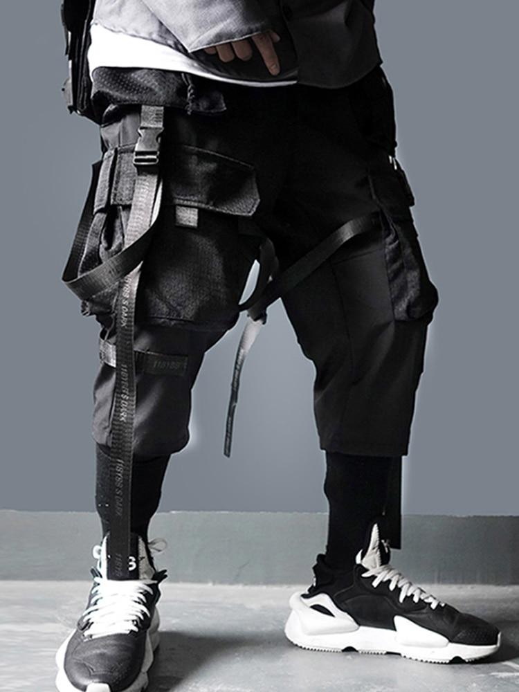 Track-Trouser Cargo-Pants Multi-Pockets Joggers Men Streetwear Hip-Hop Harajuku 11-Bybb's