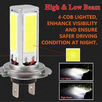 OLOMM 2PCS  H7 Car LED Headlight 12V 80W 4000LM Fog Lights Conversion Kit LED Lamps/Light Bulbs For Cars High/Low Beam 6000K