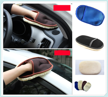 Auto parts wool soft wash gloves motorcycle care waxing rag cleaning for BMW EfficientDynamics E46 E39 E38 E90 E60 E93 F30 F31 image