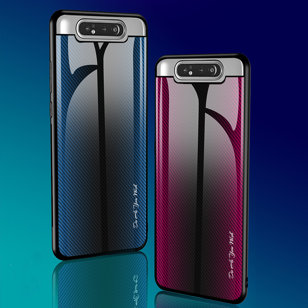 Gradient Color Tempered Glass Protective Samsung Galaxy Cover