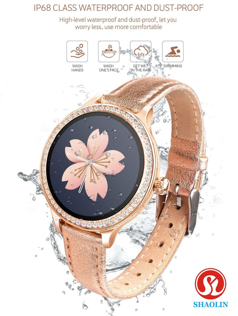 Relógio inteligente feminino lembrete de período fisiológico