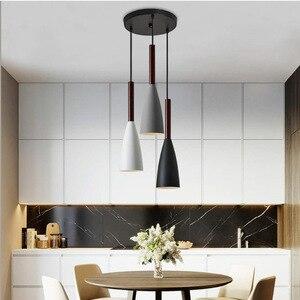 Nomsun Modern Pendant Lamp E27 Nordic Wood Pendant Lights Dining Room kitchen hanging lamp Restaurant Cafe Lighting Fixtures