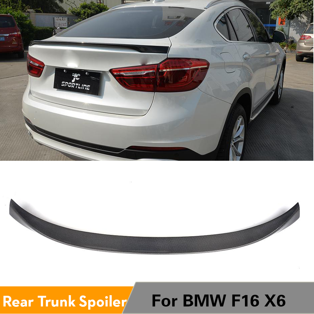 For BMW X6 F16 xDrive Series 2015 2016 2017 2018 Rear Spoiler Trunk Boot Lip Wing Carbon Fiber / FRP Car Styling image