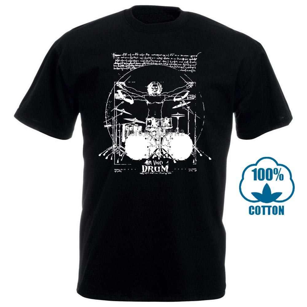Bateria Musica Porno baterista de vitruviano de la camiseta de la batería de la