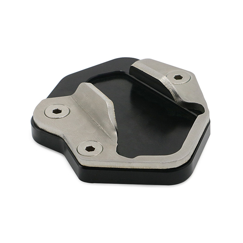 Motorcycle Kickstand Sidestand Support Plate Extension Enlarger Pad For Triumph Tiger 800 Black XC 2010-2014 Triumph Tiger 800 XCx//XCa//XR//XRx//XRt 2015-2017
