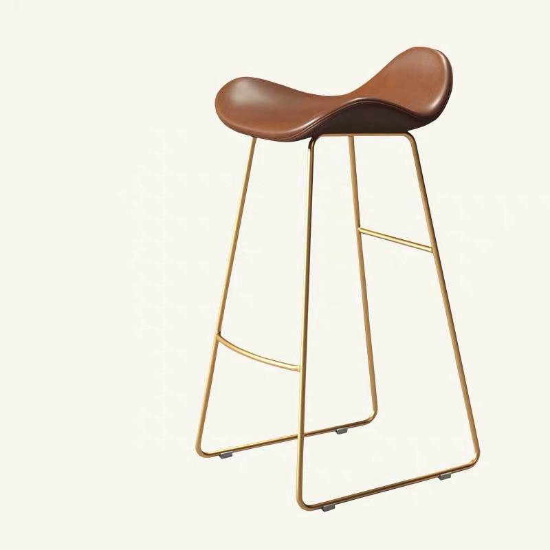 Nordic Bar Chair Household Modern Simple Bar Chair Front Chair Leisure Milk Tea Shop Cafe Stand