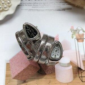 Image 5 - Cool Snake Bangle Watches Women Fashion Infinity Bracelet Watch Vogue Girls Brand Quartz Clock Religios Reloj Montre femme NW404