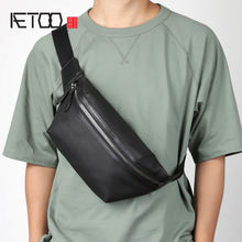 Мужская модная кожаная сумка aetoo через плечо Повседневная