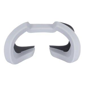 Image 4 - Zachte Siliconen Oogmasker Cover Voor Oculus Rift S Ademend Licht Blokkeren Eye Cover Pad Voor Oculus Rift S Vr headset Onderdelen