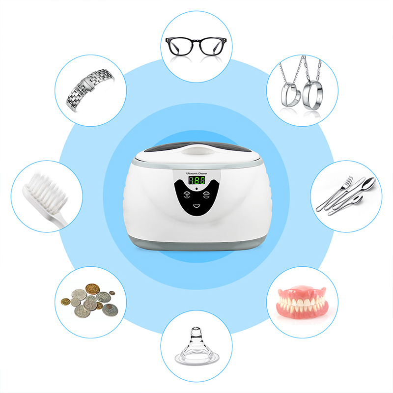 600ml Ultrasonic Cleaner SOONICK Super Sonic Jewelry Cleaning Machine Watch Ring Eyeglass Cleaners Sonic Denture Parts Washer