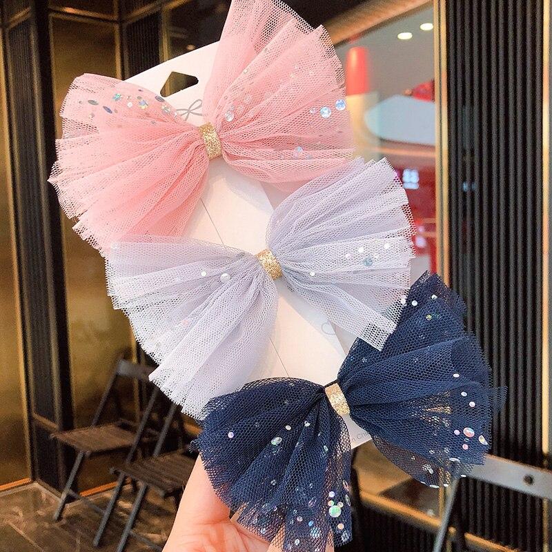 2020 New Spring Women Girls Sweet Bow Flower Chiffon Hair Clips Headband Cute Hair Ornament Hairpins Fashion Hair Accessories