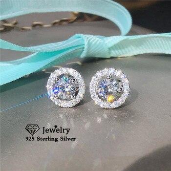 Women Zirconia Wedding Earring Jewelry 925 Silver Jewelry