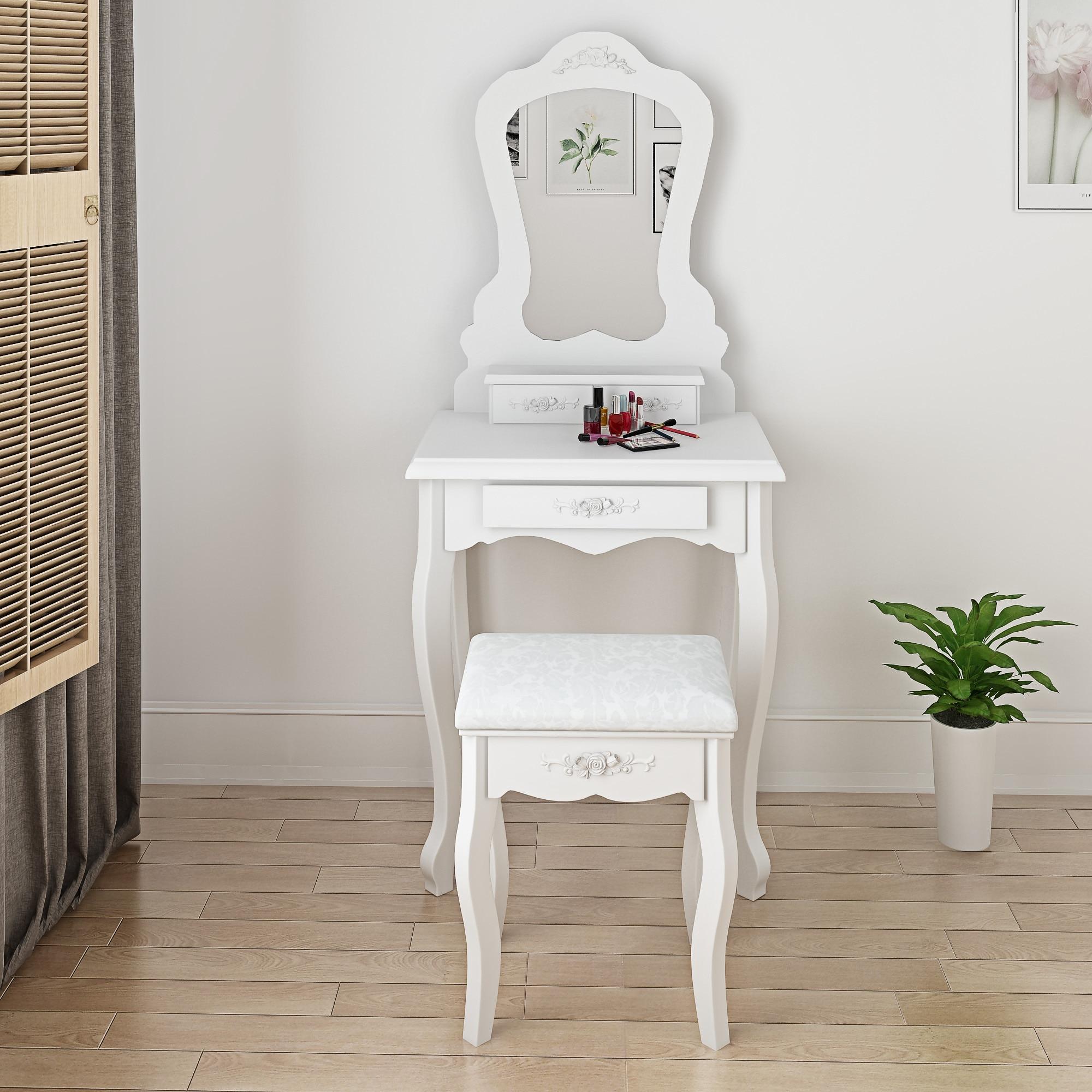 Panana Princess Girls Dressing Table Premium Quality Makeup Table & Stool Mirror Little Kid Bedroom King Girls Gift