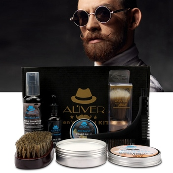 7pcs Beard Grooming Kit Beard Care Gift Kit For Men/Dad/Husband  Professional Beard Trimming Set 1