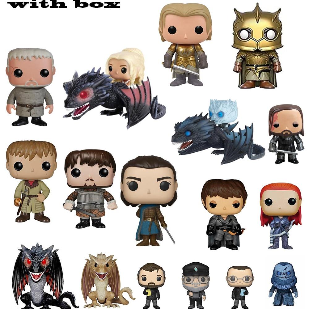 Game of Thrones ARYA STARK The mountai the Hound Jon Snow Daenerys Targaryen Drogon Ghost Tyrion Lannister Figures(China)