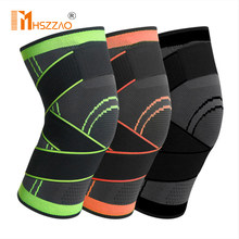 1 Pcs Riding kneepad Sports Kneepad Men Pressurized Elastic Knee Pads Support Fitness Gear Basketball Volleyball Brace Protector