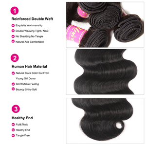 Image 4 - UNICE Hair Body Wave Bundles With 5X5 Closure Brazilian Hair Weave 3 Bundles With Closure 100% Human Hair Bundles 4PCS