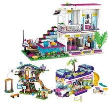 Construcción de Casa de Livi para niñas, Estrella divertida, Compatible, amigos, figuras, piezas, juguetes educativos para niños, regalos