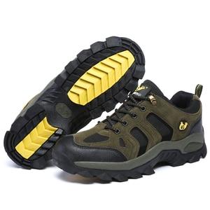 Image 2 - Hommes femmes Sports de plein air randonnée chaussures escalade Trekking chaussures Pro montagne espadrilles décontractées marche usure résistant bottes