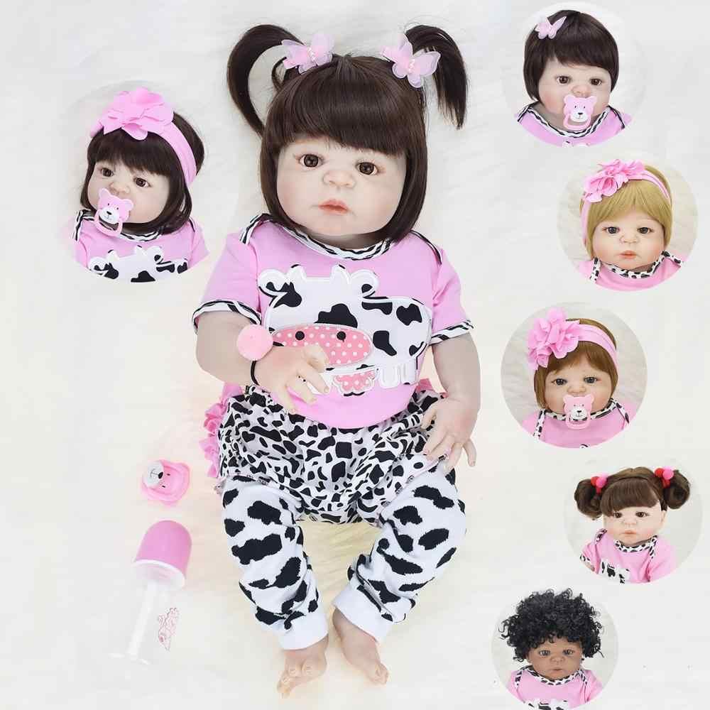 NPK Настоящее 57 см полное тело силиконовая девочка Reborn младенцы кукла Ванна игрушка Реалистичная новорожденная Детская кукла «Принцесса» кукла возрожденная менина