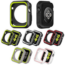 Cubierta suave para Apple Watch 44mm 40mm 42mm/38mm protector de silicona protector de shell accesorios iwatch Serie 6 5 4 3 SE 2 1