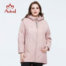 Outerwear Jacket Spring-Coat Plus-Size Clothing Hood Womens Astrid with AM-9340 Loose