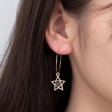 2019 Fashion New Pendant Earrings Temperament Exaggerated Shiny Personality Five-pointed Star Womens Wholesale