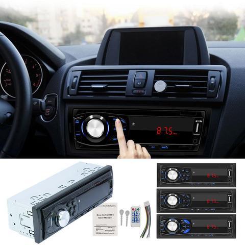 12v 1 din carro mp3 player multimidia bluetooth autoradio carro estereo radio fm aux entrada