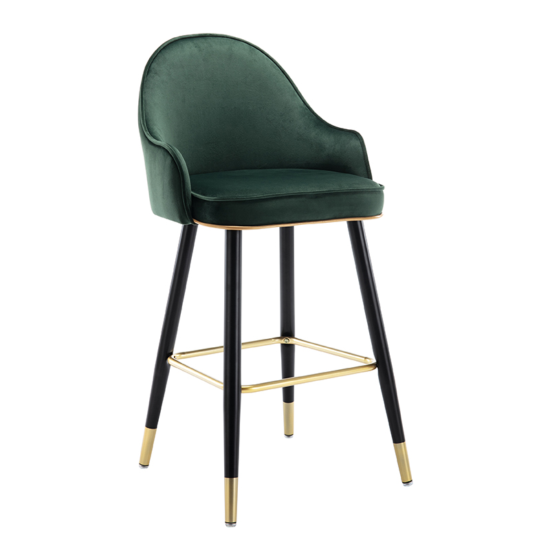 Light Luxury Bar Chair Household High Stool Modern Simple Island Platform High Chair Bar Chair Front Desk High Back Stool