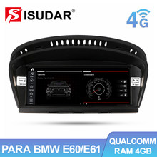 Isudar 1 Din Android 10 Radio Coche para BMW serie 5 E60 E61 E62 E63 3 Serie CCC/CIC Automóvil Pantalla Multimedia GPS Navegador Altavoces Manos libres Bluetooth 4G Mandos Del Volante Idrive Carplay IPS
