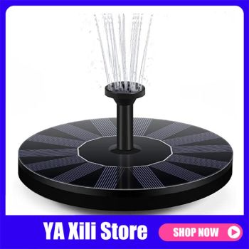 Mini Solar Powered Fountain Garden Pool Pond Solar Panel Floating Fountain Garden Decoration Water Fountain Drop Shipping image