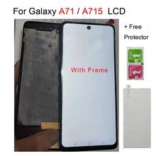 A715 Lcd ekran Samsung Galaxy A715 için LCD ekran dokunmatik ekran Digitizer meclisi Samsung A71 LCD A715 A715F A715FD lcd