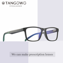 Anti Blue Light Glasses TR90 Glasses Frame Men Prescription Glasses Square Eyeglasses Women Computer Glasses UV400 Protection cheap TANGOWO Unisex Plastic Titanium Solid TF23 FRAMES Eyewear Accessories Optical Glasses Glasses Frames Spectacle Glasses High Quality