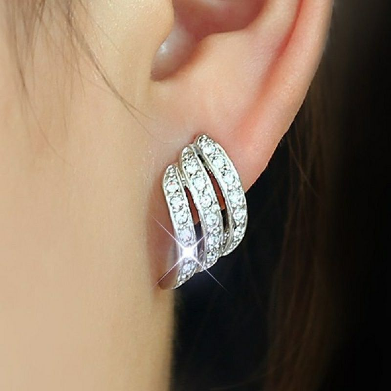 Mode rose pierre cristal fleur goutte boucles d'oreilles pour femmes or strass boucles d'oreilles bijoux modernes cadeau 25