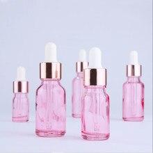 10 pçs/lote 5ml 10ml 15ml 30ml vazio garrafas conta-gotas de vidro frascos frascos com pipetas conta-gotas de óleo essencial recipientes de garrafa de soro