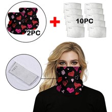 Neck Gaiters Scarves face maskswashable and reusable Maska Printed Outdoor Sports Cycling Protective Face Maks With 10pc Filters cheap Modern 120*120*74CM Polyester Cotton Face Cover Face Maskes Washable Mask Mascarillas Cheeks