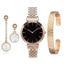 Women Quartz Watch Set Luxury Diamond Large Watch Simple Ste