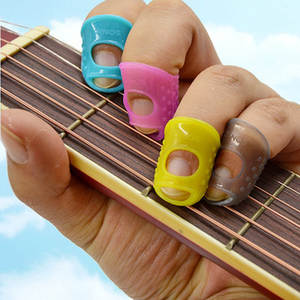 Finger-Guards Guitar-Accessories Ukulele Silicone for 4pcs/Set