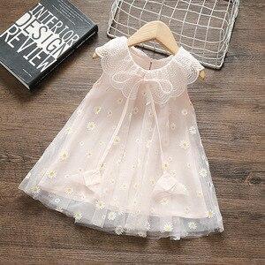 Verão bebê recém-nascido meninas vestido roupas princesa festa de aniversário tutu vestido para o batismo do bebê vestido 0-2y roupas infantis vestidos