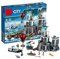 Models Building Toy Compatible With Legoinglys City Series 60130 815pcs Building Blocks The Prison Island Toys & Hobbies Gift