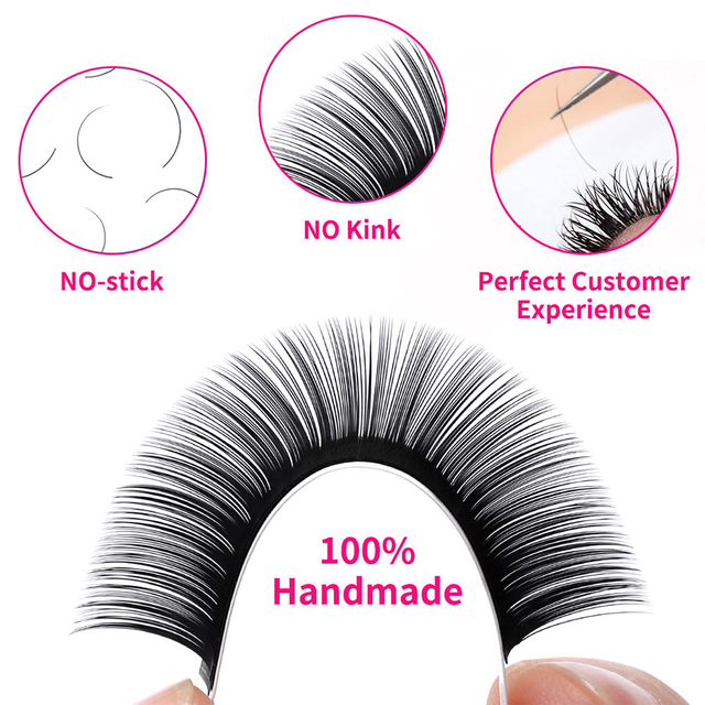 16rows Fadvan Faux Mink Eyelashes Individual Eyelashes Makeup Lashes Extension Lashes Box Case Supplies for Lash Building 5